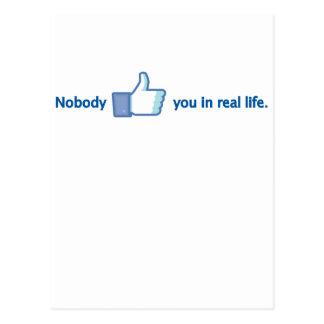Niemand mag Sie Postkarte
