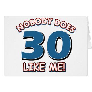 Niemand tut 30 wie ich! karte