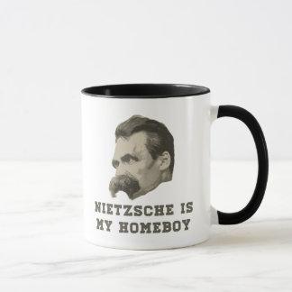Nietzsche ist meine Homeboy-Porträt-Tasse Tasse