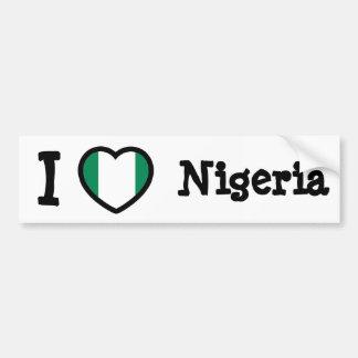 Nigeria-Flagge Autoaufkleber