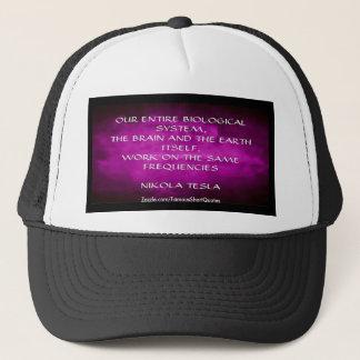 Nikola Tesla-Zitat - die gleichen Frequenzen Truckerkappe