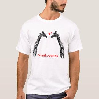 "Ninakupenda ""ich Liebe Sie"" Giraffen-Shirt T-Shirt"