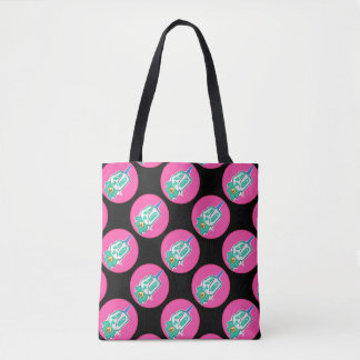 Ninja Charakter-Taschen-Taschen-Rosa-Punkte