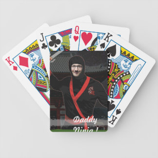 Ninja japanischer Krieger - mit IHREM Foto u. Text Bicycle Spielkarten