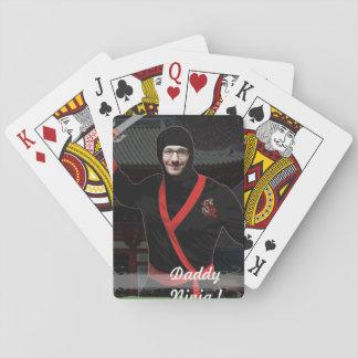 Ninja japanischer Krieger - mit IHREM Foto u. Text Spielkarten