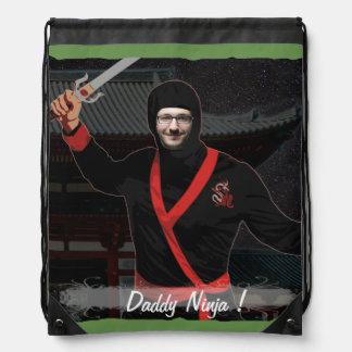 Ninja japanischer Krieger - mit IHREM Foto u. Text Turnbeutel