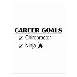 Ninja Karriere-Ziele - Chiropraktor Postkarte