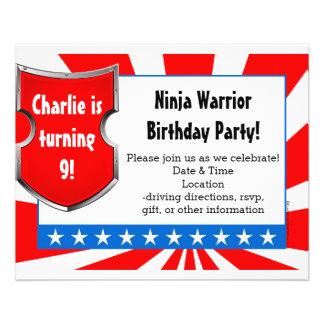 Ninja Krieger-Geburtstags-Party scherzt die Flyer