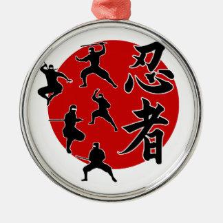 Ninja Silbernes Ornament