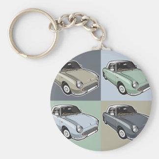 Nissan Figaro in vier Farben Schlüsselanhänger