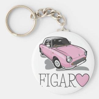 Nissan Figaro-Rosa Schlüsselanhänger