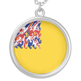 Niue Gnarly Flagge Personalisierte Halskette