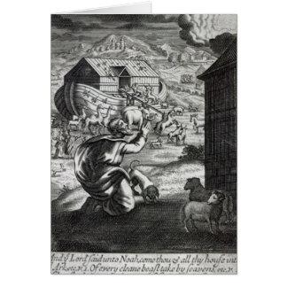 Noah entreth die Arche Karte