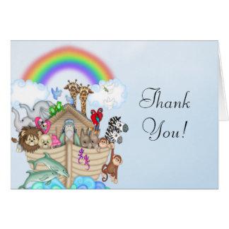 Noahs Arche-Babyparty danken Ihnen zu kardieren Karte