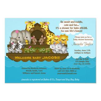 Noahs Arche-Babyparty-Einladung Karte