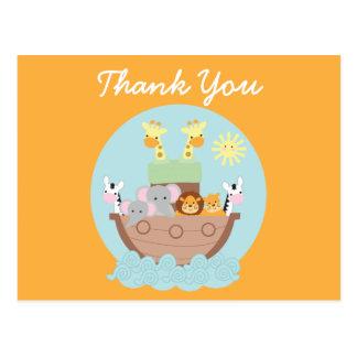 Noahs Arche danken Ihnen Postkarte