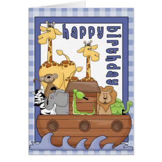 Noahs Arche-Tier-Jungen-alles- Gute zum Karte