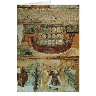 Noahs Arche während der Flut, c.1100 Karte