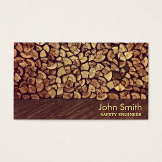 Noble Brennholz-Sicherheits-Ingenieur-Visitenkarte Visitenkarte