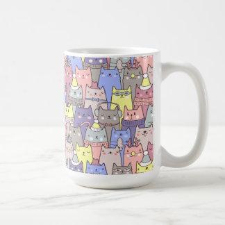 Noble coole Weihnachtskatzen-lustige Kaffee-Tasse Tasse