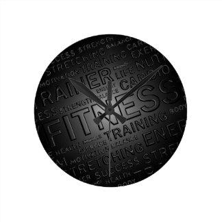 Noble Fitness-Wand-Uhr Runde Wanduhr