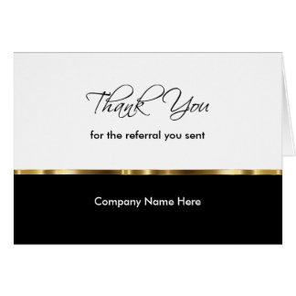 Noble Geschäfts-Empfehlung danken Ihnen Karten