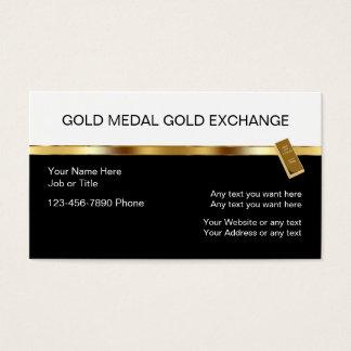Noble Gold-Investitions-Visitenkarten Visitenkarten