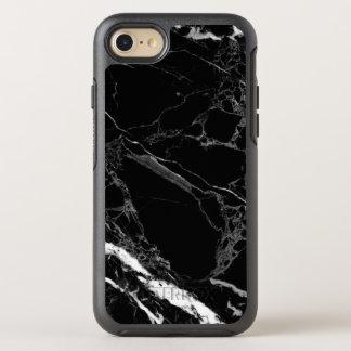 Noble schwarze Marmorsteinbeschaffenheit OtterBox Symmetry iPhone 7 Hülle