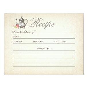 Vintage Rezepte Einladungen   Zazzle.at