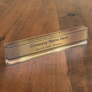 Nobler Führungskraft-Schreibtisch-Namen-Teller