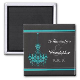 Nobler Leuchter-Gastgeschenk Hochzeits-Magnet Quadratischer Magnet