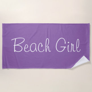 Nobler lila Strand-Mädchen-Entwurf Strandtuch