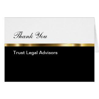 Nobles Geschäft danken Ihnen Mitteilungskarte