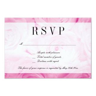 Nobles rosa Rosen-Blume UAWG, das Wartekarte 8,9 X 12,7 Cm Einladungskarte