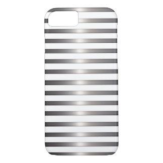 Nobles Silber und Weiß iPhone 7 Hülle