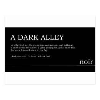 Noir Auszug Postkarte