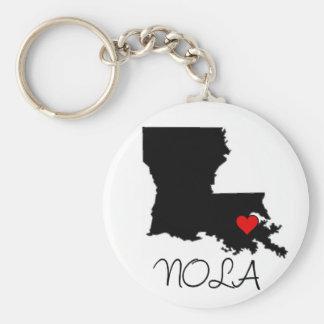 NOLA-Herz Standard Runder Schlüsselanhänger