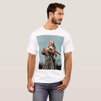 Nonne mit einem Gewehr T-Shirt