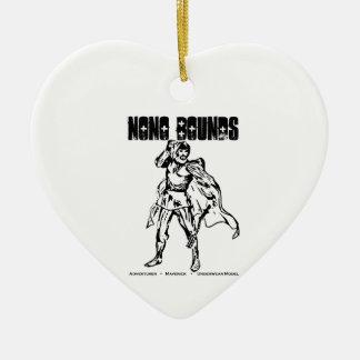 Nono springt Aktions-Abnutzung Keramik Herz-Ornament