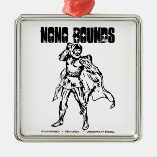 Nono springt Aktions-Abnutzung Silbernes Ornament