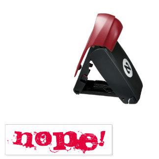 NOPE! Briefmarke - rote Tinte Taschenstempel