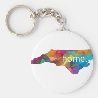 Nord-CarolinaZuhause niedrig Poly Standard Runder Schlüsselanhänger