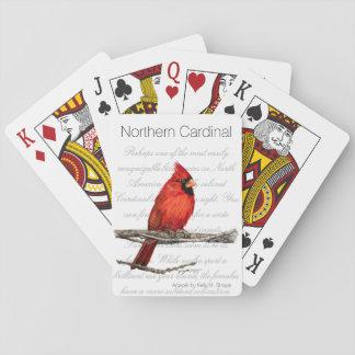 NordKardinals-Wort-Kunst-Vogel-Spielkarten Pokerkarte