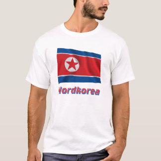 Nordkorea Fliegende Flagge MIT Namen T-Shirt