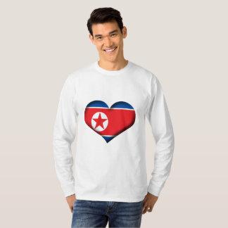 Nordkorea-Herz-Flagge T-Shirt