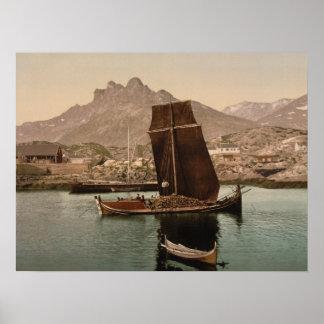 Nordlandsbaat, Nordland, archivalischer Druck Poster
