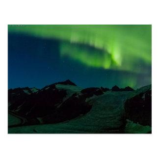 Nordlicht-Postkarte Juneau Icefield AKTUALISIERT Postkarte