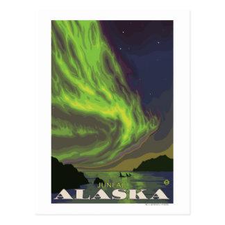 Nordlichter und Schwertwale - Juneau, Alaska Postkarte