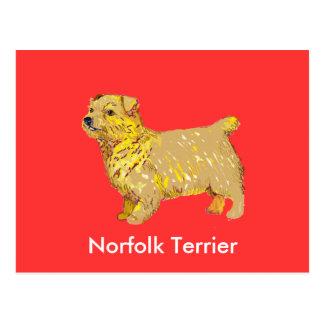 Norfolk-Terrier - Körper verlassen Postkarte