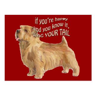 Norfolk-Terrier Postkarte